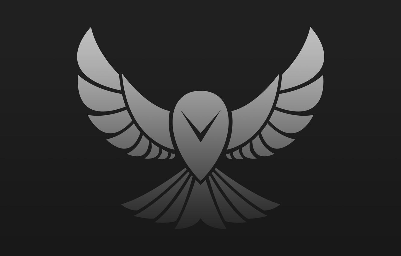 Фото обои сова, лого, птица, арт, вектор