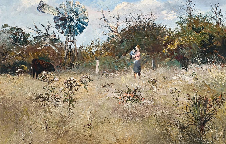 Фото обои картина, Осенний Пейзаж, Arthur Boyd