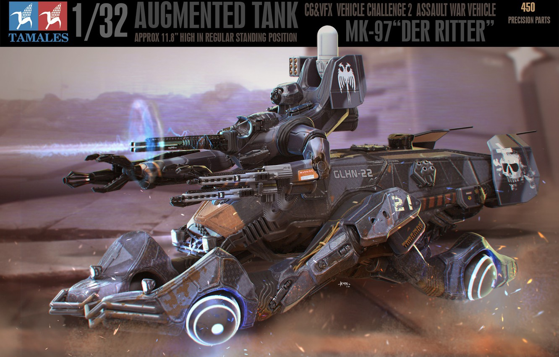Фото обои машина, оружие, транспорт, автомобиль, Der Ritter box art