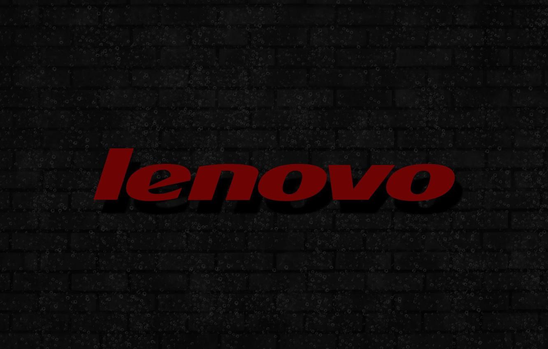 Фото обои пузырьки, logo, background, кирпичная стена, lenovo, серая стена, красная надпись