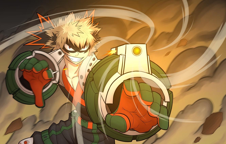 Фото обои аниме, арт, парень, Boku no Hero Academia, Бакугоу Катсуки, Моя геройская акадеимя