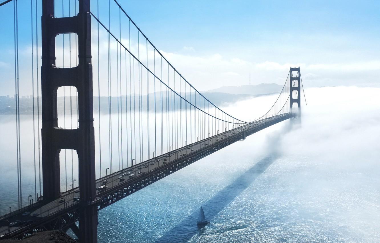 Обои сан - франциско, сша, golden gate bridge, туман. Города foto 16
