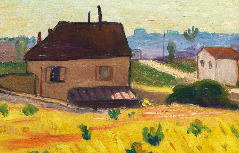 Обои пейзаж, картина, Albert Marquet, Альбер Марке, Дом в Кашане, фовизм картинки на рабочий стол, раздел живопись - скачать