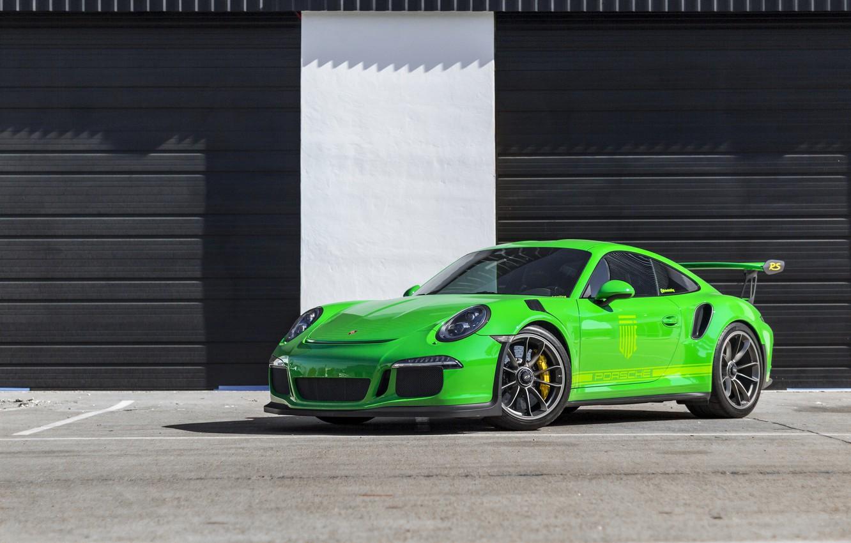 Фото обои Porsche, Green, GT3RS, 991