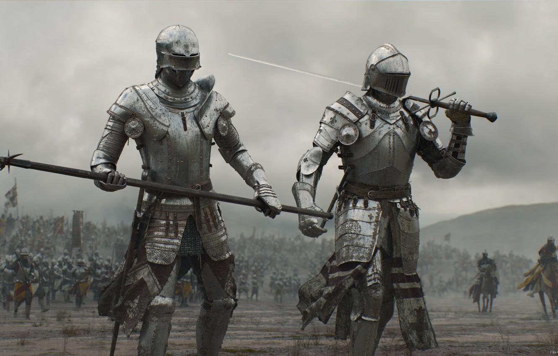 Фото обои sword, armor, weapon, war, man, army, fight, ken, blade, horse, warrior, knight, spear, combat, honor