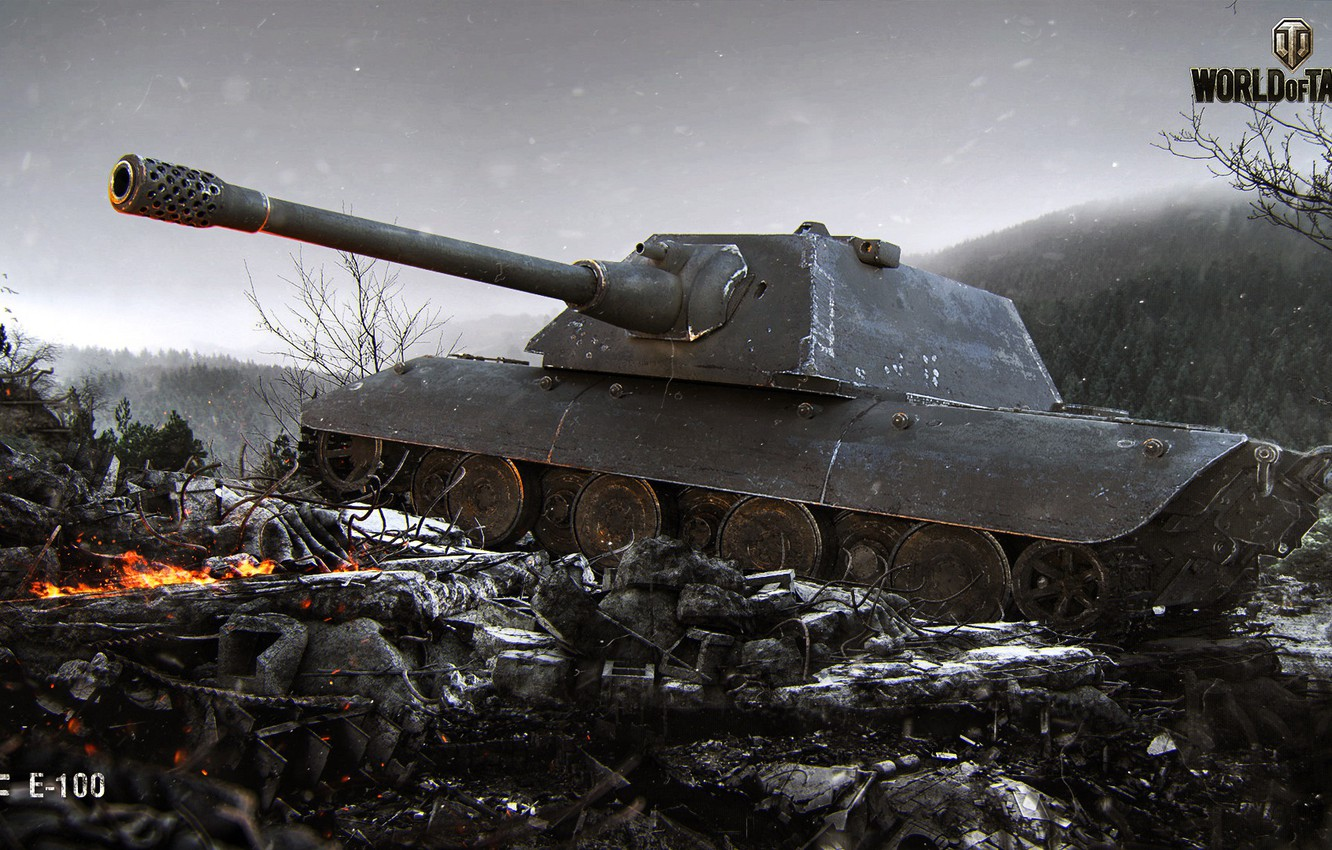 Фото обои World of Tanks, E 100, Cadaver Frio