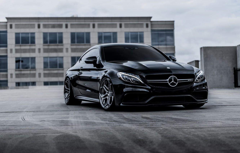 Фото обои Mercedes, Black, Coupe, Bi-Turbo, С217, S63AMG