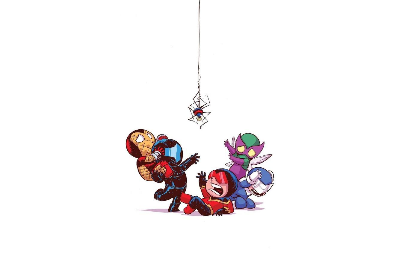 Фото обои Жук, Страх, Marvel Comics, Человек Паук, Бумеранг, Злодеи, Шокер, Sinister six, Демон Скорости