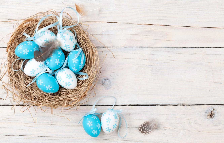 Фото обои Пасха, wood, spring, Easter, eggs, decoration, Happy, tender