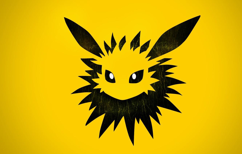 Фото обои глаза, иглы, стихия, уши, eyes, Покемон, electric, электрический, pokemon, Джолтеон, Jolteon