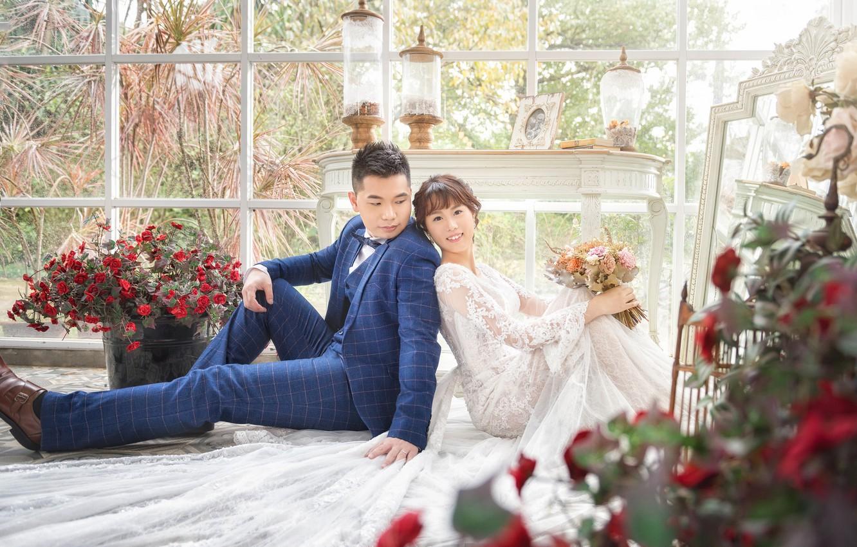 Обои жених, свадебный, цветы. Праздники foto 12