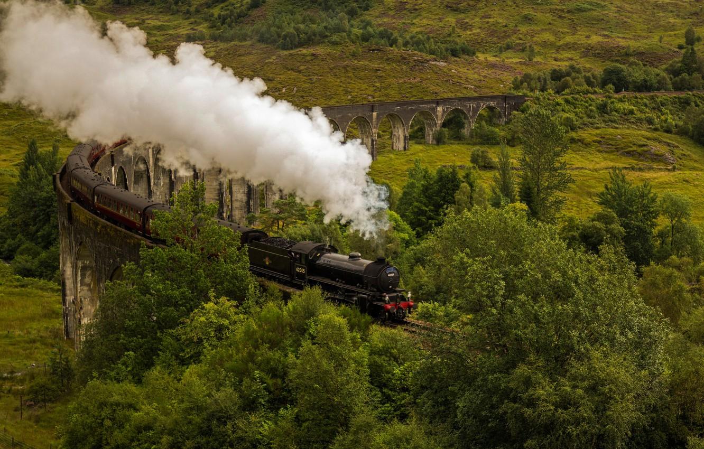 Обои scotland, поезд, forth bridge, вагоны. Разное foto 8