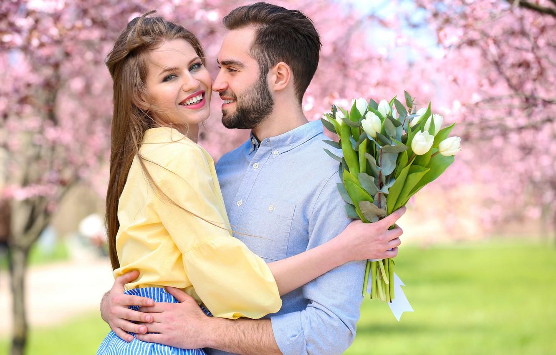 Обои Весна, цветение, влюбленные, цветы. Настроения foto 8