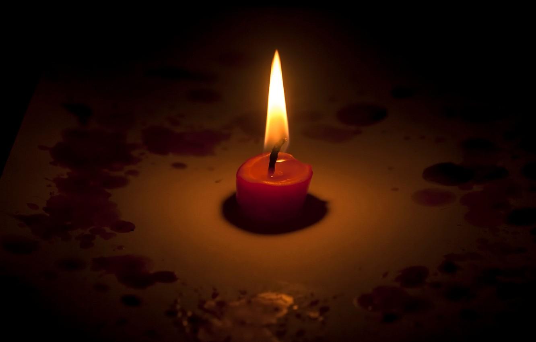 Фото обои память, свеча, беда, Кемерово