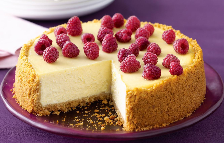 Обои торт, малина, кусок, чизкейк, ежевика. Еда foto 16