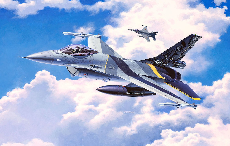 Обои fighting falcon, general dynamics, истребитель. Авиация foto 11
