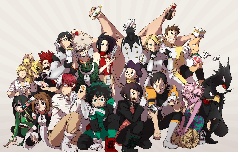Фото обои anime, hero, manga, powerful, strong, yuusha, grenade, Boku no Hero Academia, My Hero Academia