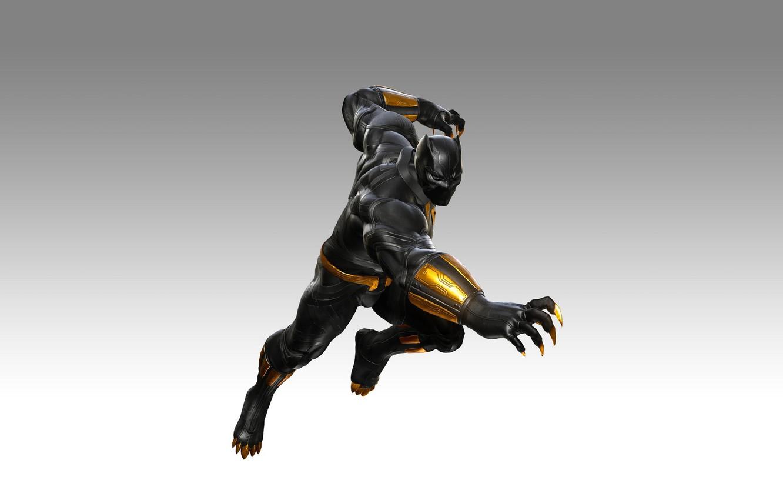 Фото обои game, fighting, DLC, Black Panther, T`Challa, Walkanda, Marvel vs. Capcom: Infinite
