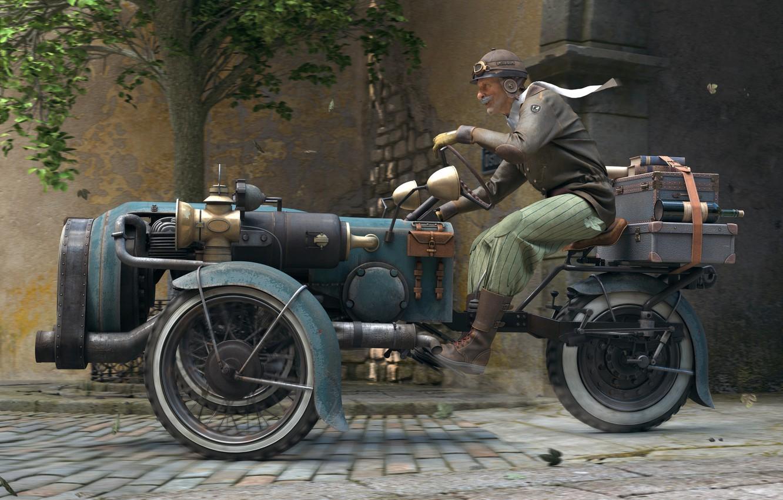 Фото обои машина, город, улица, гонщик, старичок, The Journey, лихач, Rory Björkman