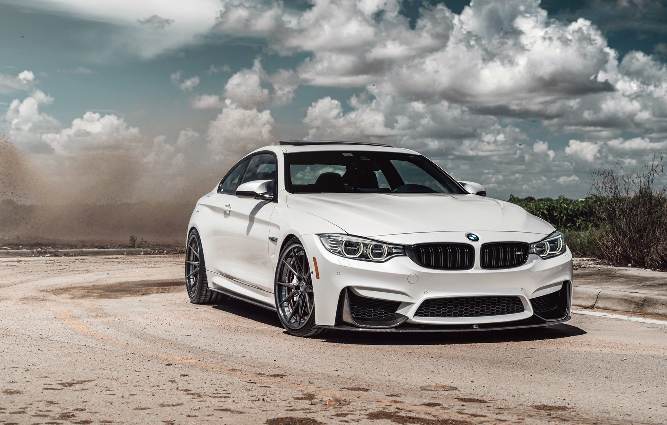 Фото обои car, BMW, road, sky, White, clouds sky