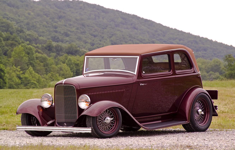 Фото обои ретро, Ford, 1932, Deucenberg, B400
