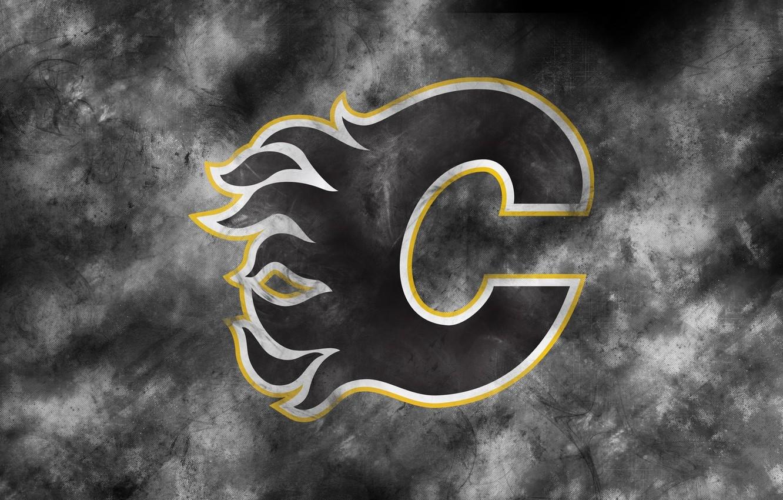 Фото обои эмблема, NHL, НХЛ, Калгари, Национальная Хоккейная Лига, хоккейный клуб, Calgary Flames, Калгари Флэймз