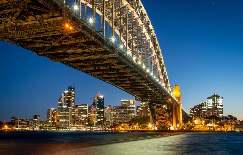Обои набережная, ночь, австралия, фонари. Города foto 15