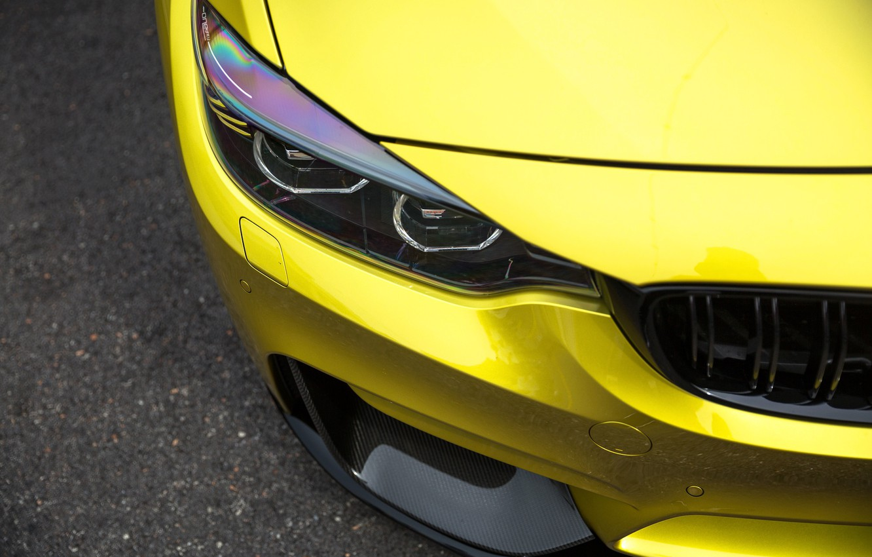 Фото обои BMW, Carbon, Yellow, Gold, F82, Sight