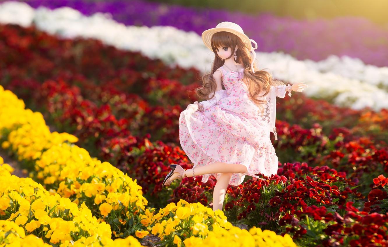Обои Кукла, цветы. Разное foto 6