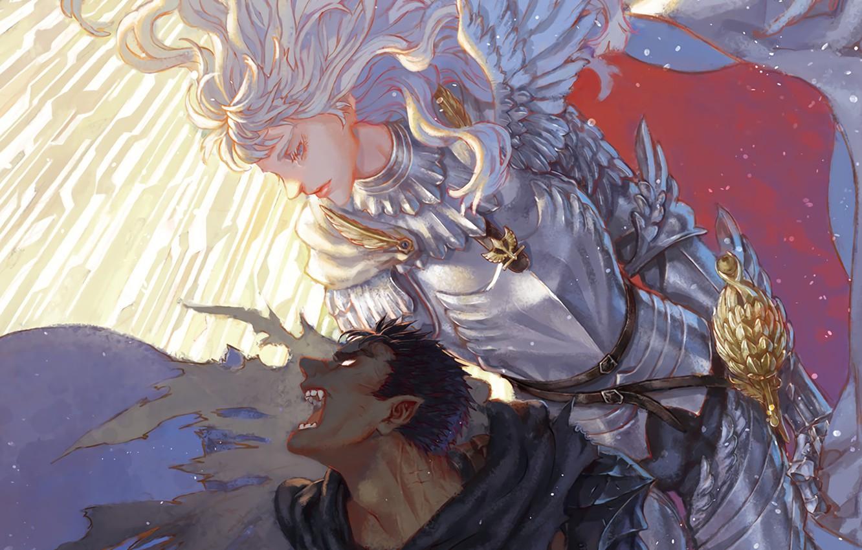 Фото обои demon, sword, game, armor, devil, anime, man, fight, ken, blade, Berserk, evil, manga, powerful, strong, …