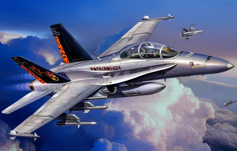 Обои Mcdonnell, jet, Douglas, fighter, fa. Авиация foto 6