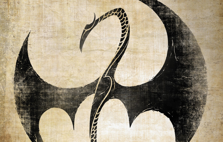 Фото обои logo, dragon, tv series, Netflix, Iron Fist