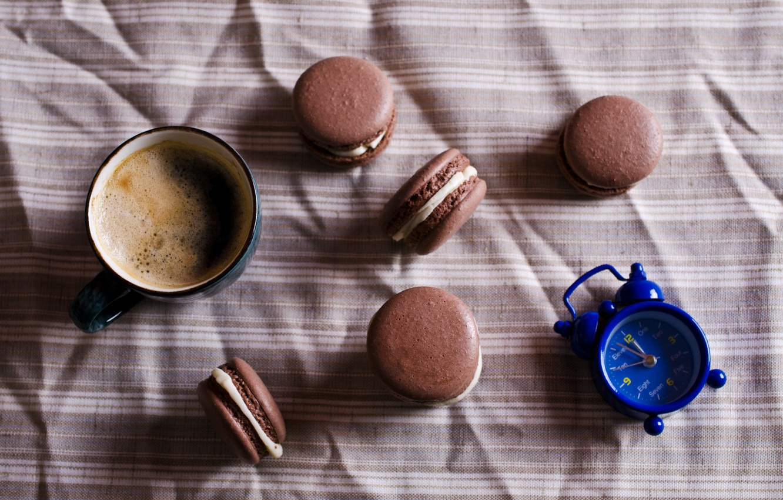 Фото обои кофе, печенье, крем, десерт, выпечка, coffee cup, cookies, macaron, almond, макаруны