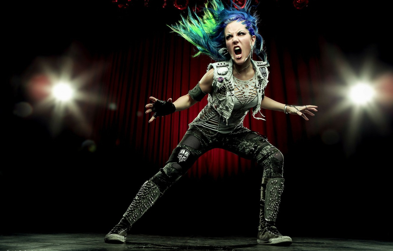 Фото обои singer, pose, Arch Enemy, Alissa White-Gluz