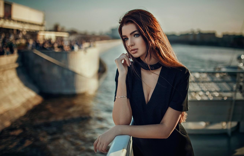 Фото обои девушка, модель, платье, рыжая, Hakan Erenler, Екатерина Романова