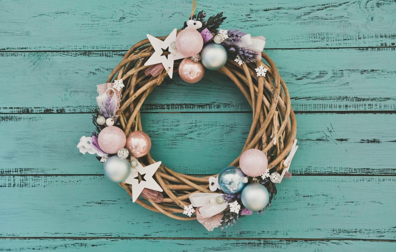 Фото обои украшения, Новый Год, Рождество, christmas, венок, wood, merry christmas, decoration, xmas, wreath