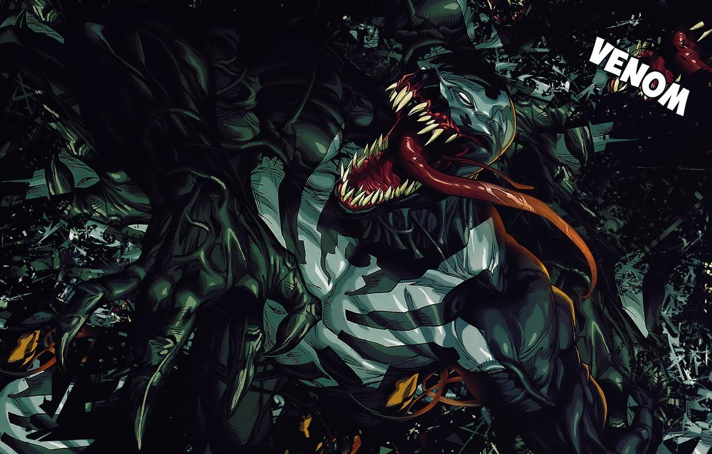 Фото обои Язык, Зубы, Комикс, Когти, Marvel, Comics, Веном, Venom, Симбиот, Марвел, Комиксы, Eddie Brock, Symbiote, Teeth, …