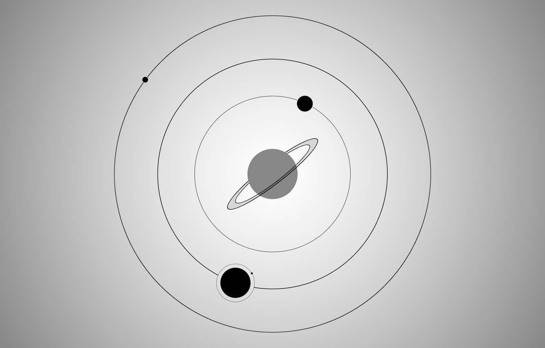 Фото обои space, black, galaxy, gray, circle