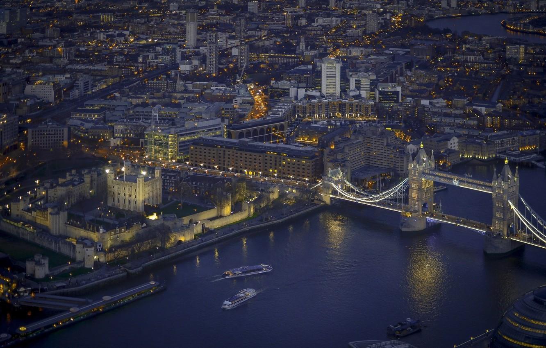 Фото обои ночь, город, Лондон