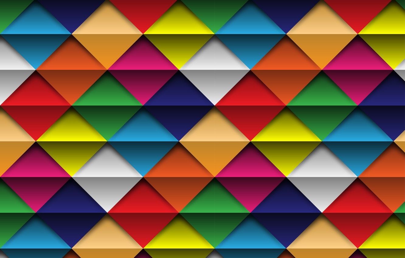 Фото обои фон, colorful, rainbow, квадрат, цветной, background, ромб, geometric