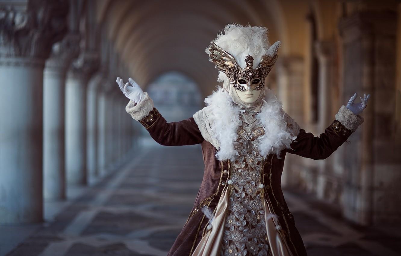 Фото обои маска, костюм, карнавал