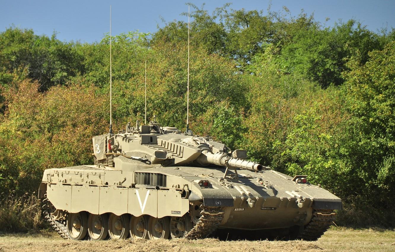Фото обои танк, боевой, Merkava, Израиля