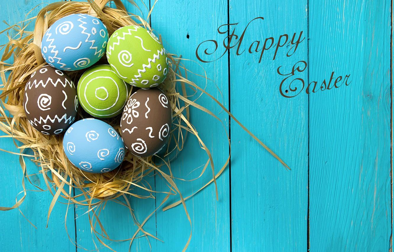 Фото обои весна, colorful, Пасха, wood, spring, Easter, eggs, decoration, Happy, яйца крашеные