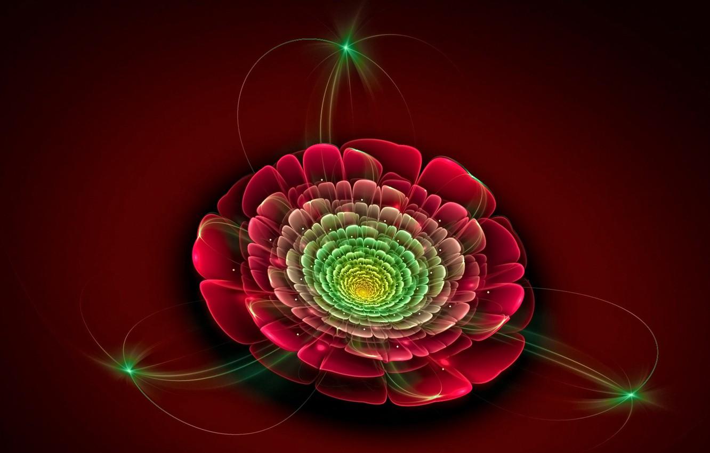 Обои цветок, краски, фрактал. Абстракции foto 6