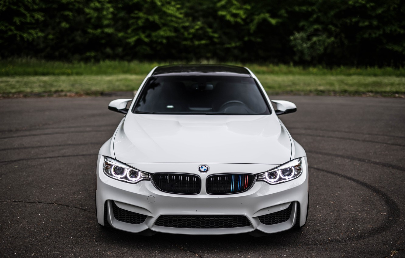 Фото обои BMW, Beautiful, Front, White, F80