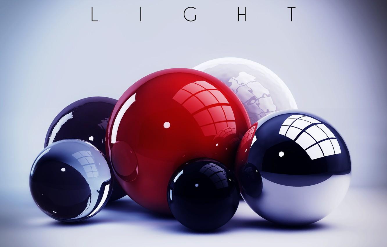 Фото обои colors, colorful, abstract, light, balls, rendering, digital art, geometry, Spheres