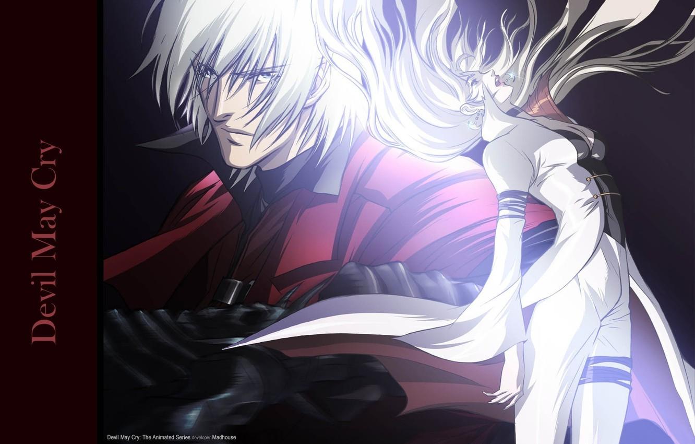 Фото обои парень, убийца, безумие, Dante, седой, Devil May Cry, злобный взгляд, растрепанные волосы, Дьявол может плакать, …