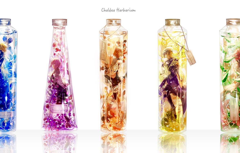 Фото обои цветы, девушки, аниме, арт, колбы, saber, fate, fate/grand order, artoria pendragon, fujimaru ritsuka, tsugutoku, mash …