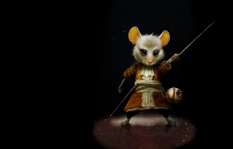 Фото обои шпага, детская, арт. мышка