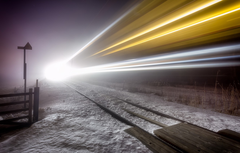 Обои ночь, Железная дорога. Разное foto 18